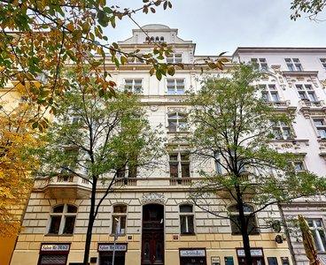 Pronájem bytu s terasou 3+kk, 90 m2, Vinohrady - Slavíkova