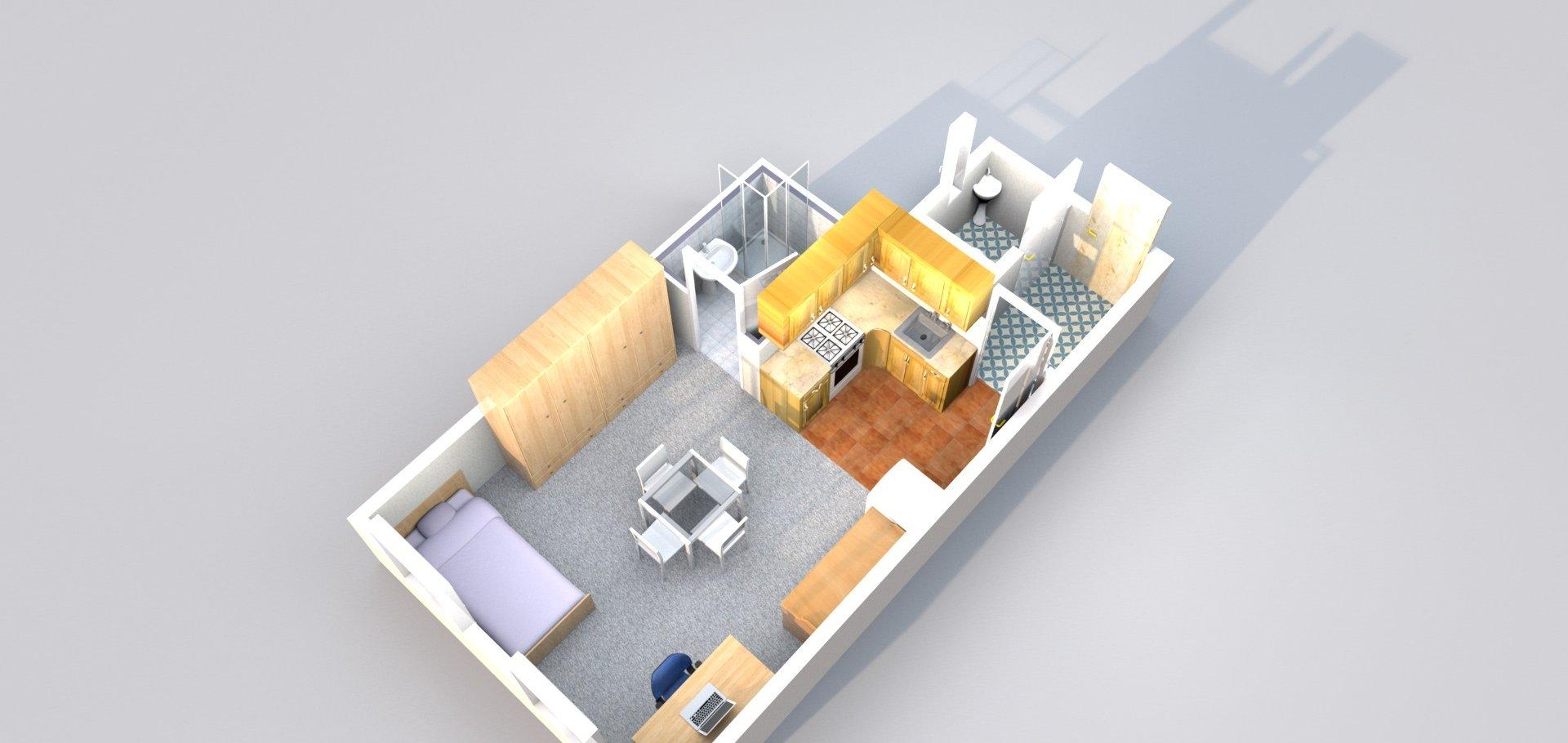 Pronájem, Byty 1+kk, 27m² - Praha - Holešovice