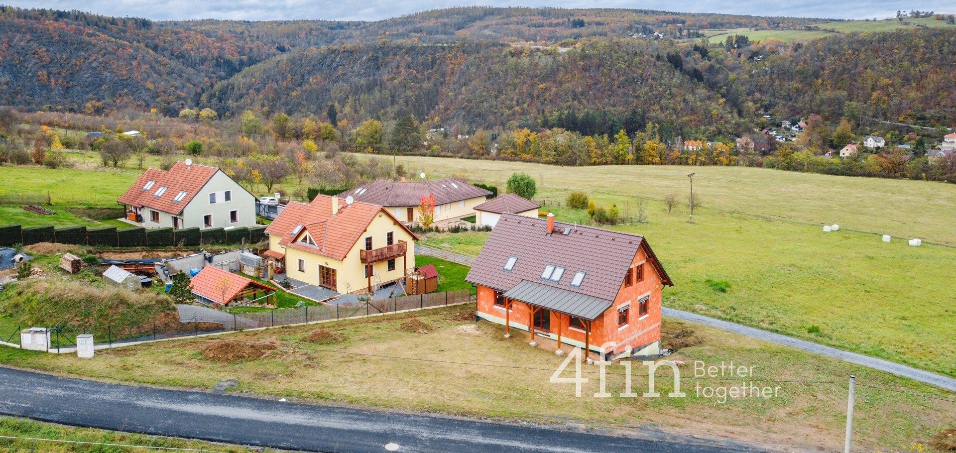 Prodej rozestavěné stavby domu, 237m² , Újezd nad Zbečnem