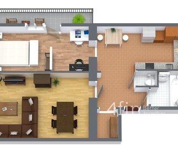 222 - 1. Floor - 3D Floor Plan