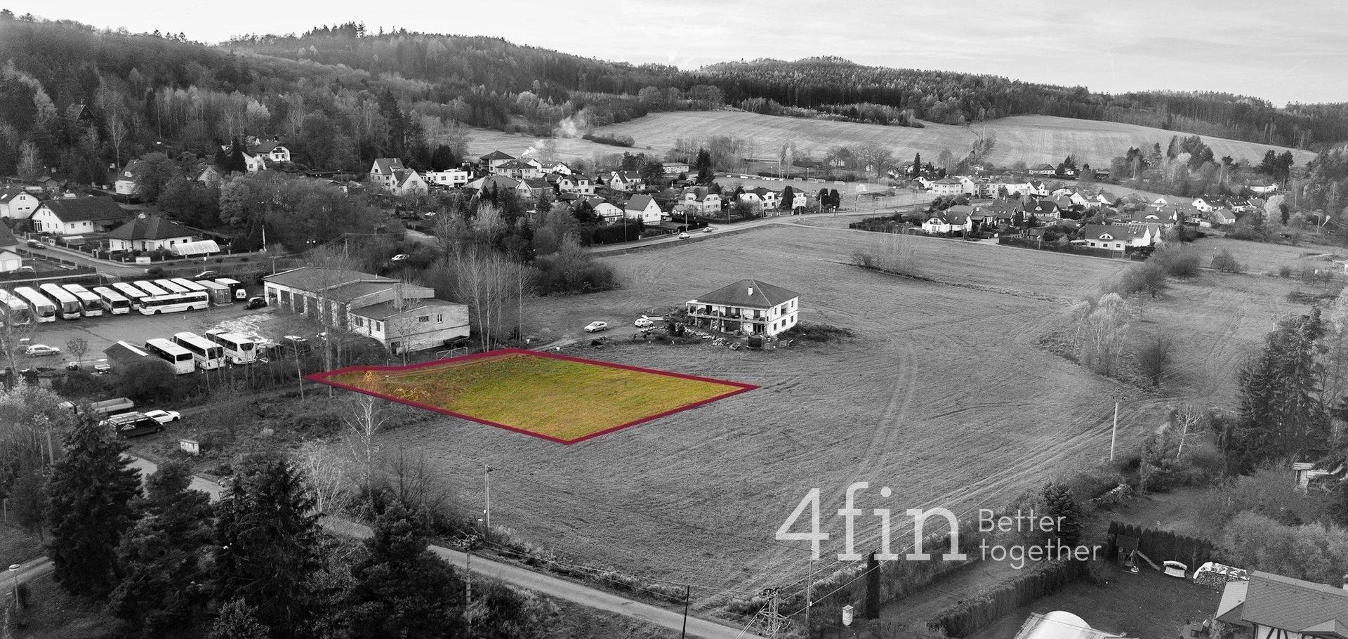 Pozemek pro stavbu rodinného domu, 1307m² - Zbiroh