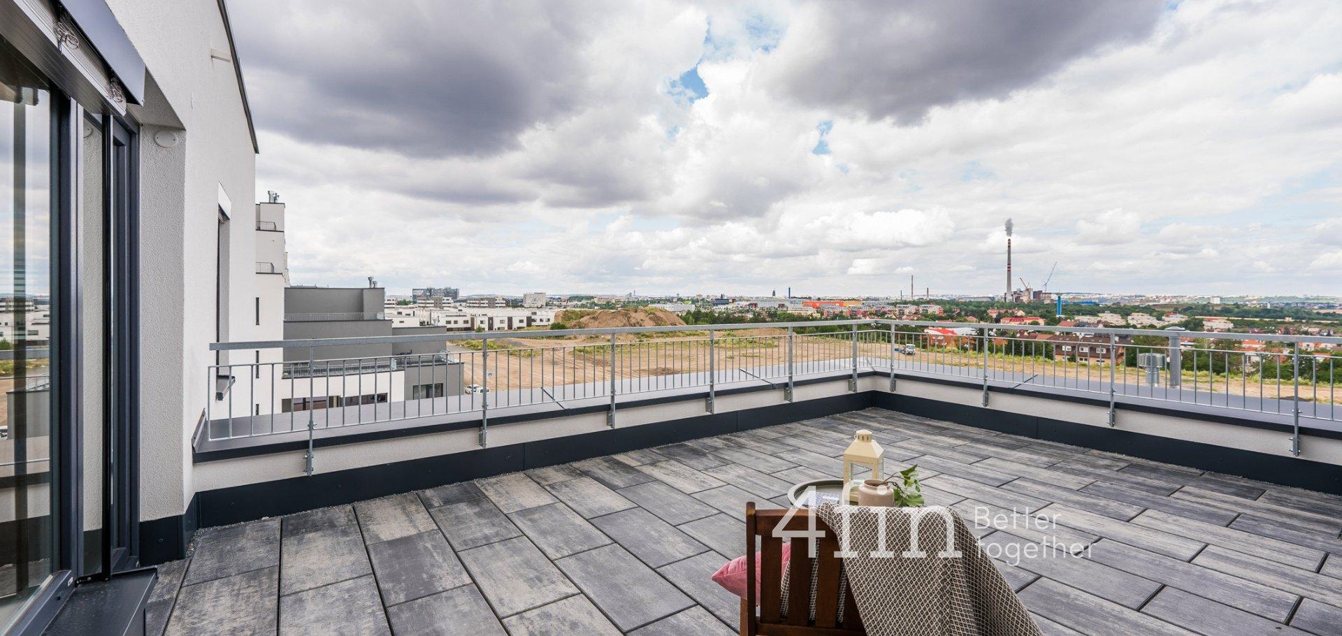 Pronájem bytu 3+kk s terasou, 100m² + 28m² - Praha - Dolní Měcholupy