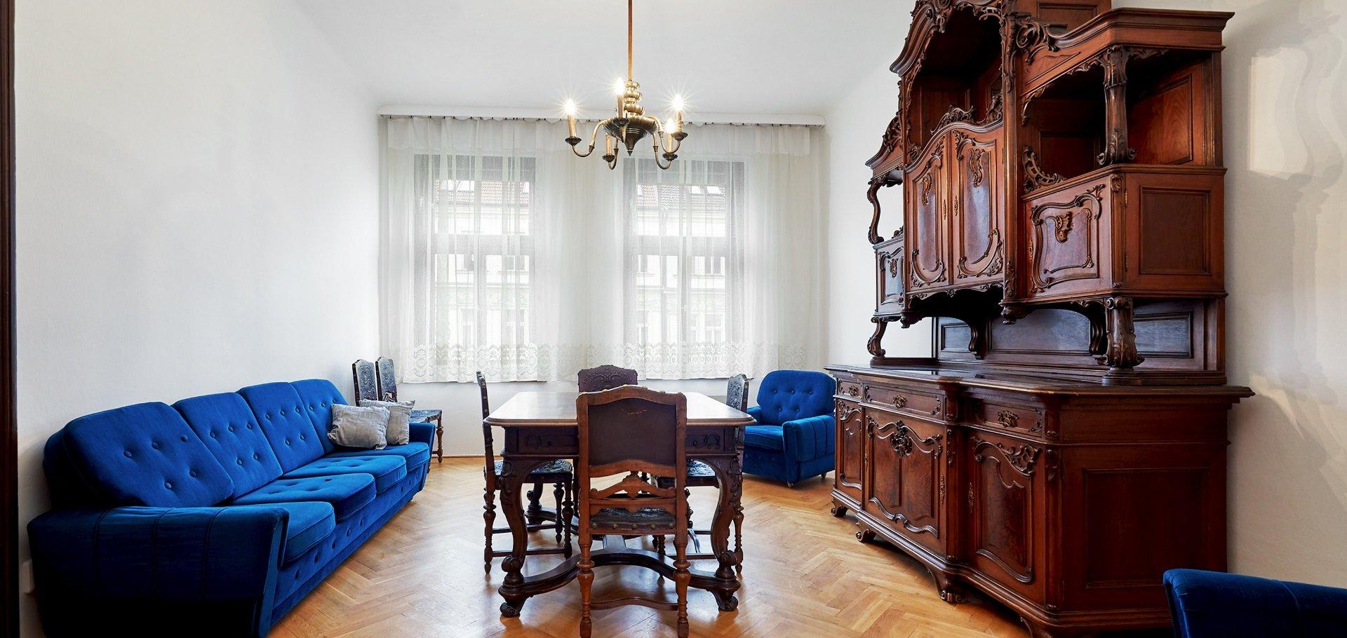 Pronájem bytu 2+1 s nádechem historie, 80m², Praha - Vinohrady