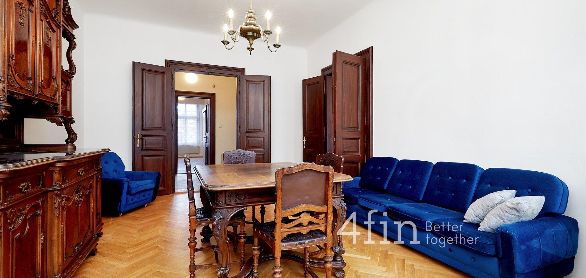Pronájem bytu 3+kk s nádechem historie, 80m², Praha - Vinohrady