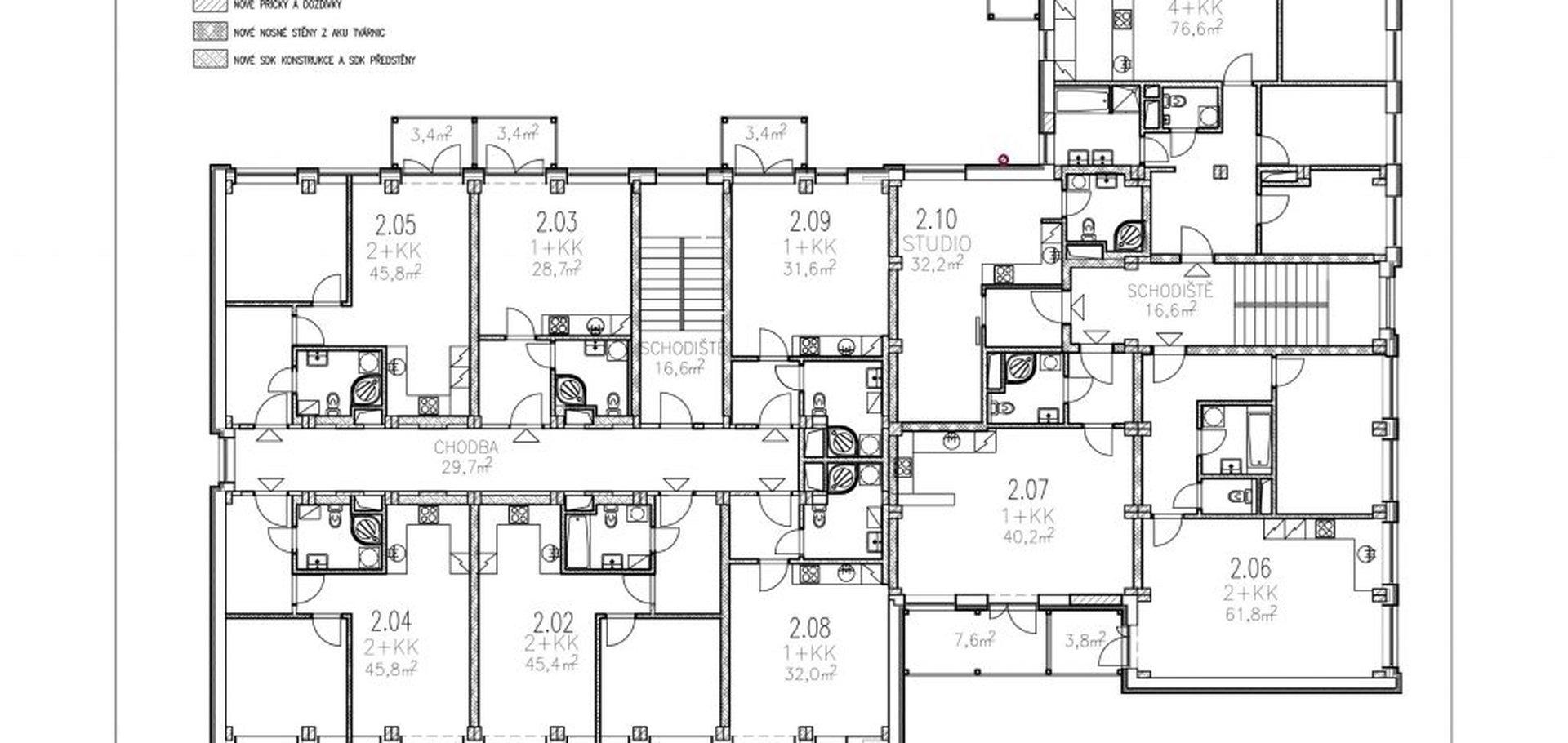 Prodej, Byty 2+kk, 55m² - Hodonín, Rohatec