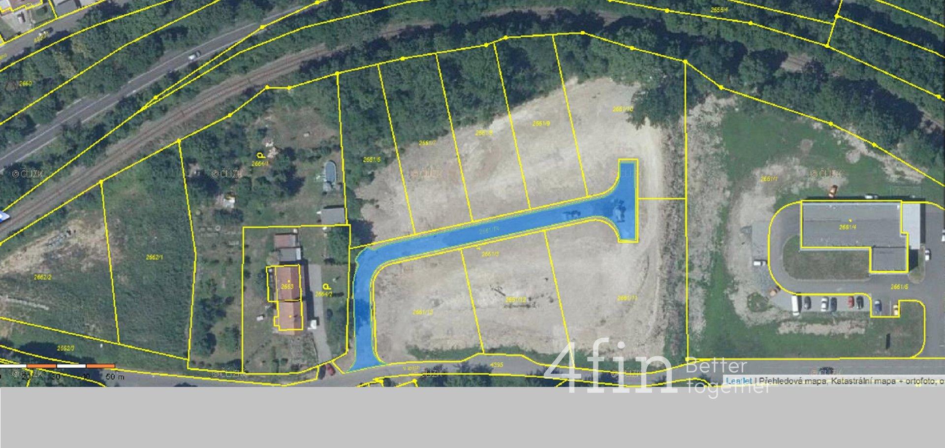 Prodej zasíťovaného stavebního pozemku, 1095m² , V lipách - Teplice