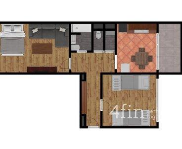 2D půdorys - s nábytkem