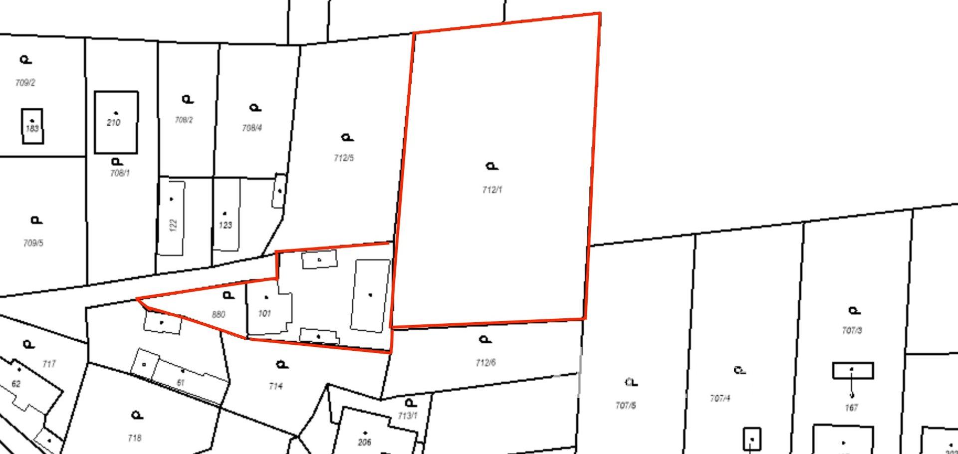 Prodej, Pozemky pro bydlení, 4 276 m² - Lužany - Dlouhá Louka