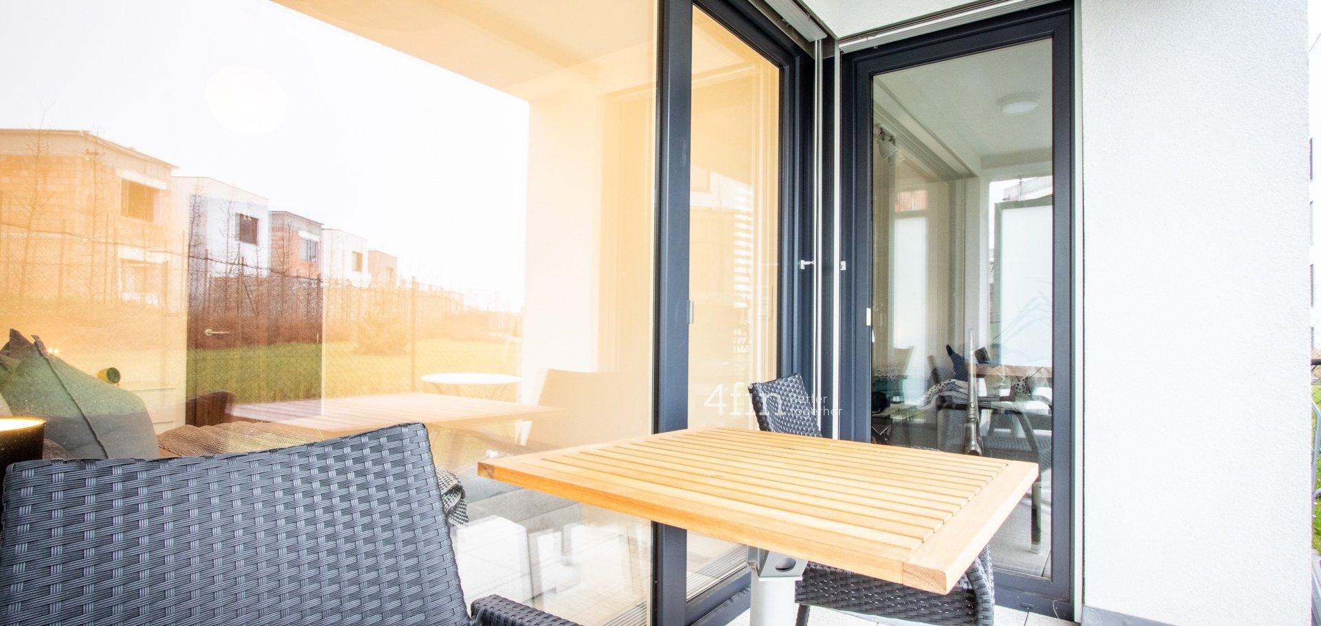 Slunný byt se zahrádkou na jižních svazích území Sadová