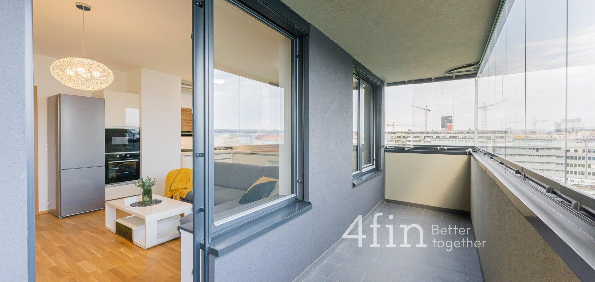 Pronájem bytu 4+kk s terasou, 85m² , Praha - Holešovice
