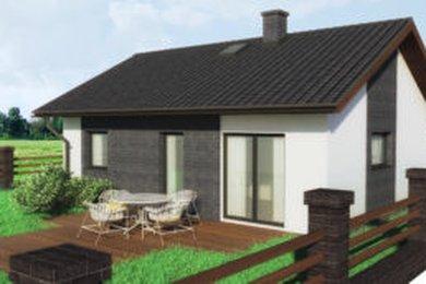 "Výstavba rodinného domu ""na klíč"" 3+kk o užitné ploše 71,7 m2 na pozemku 675m² - Všeruby, Ev.č.: 00136"