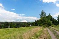 Příjezdová cesta pohled chata