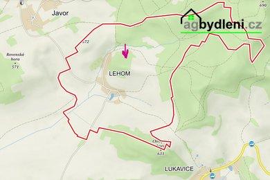 Prodej lesa 14065 m2 u obce Lehom nedaleko Běšin, Ev.č.: 00779