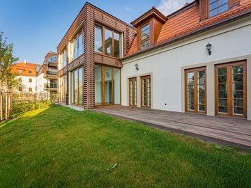 Pronájem, Byty 3+1, 88m², Praha - Troja, terasa, zahrada 100m²