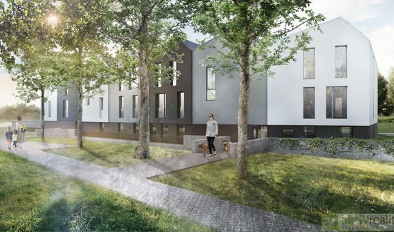 Nízkoenergetická novostavba bytu 2+kk, 52m², balkon, zahrada, Neratovice okres Mělník