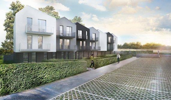 Nízkoenergetická novostavba bytu 1+kk 26 m2, vlastní soukromá zahrada 56 m2 - Neratovice okr. Mělník