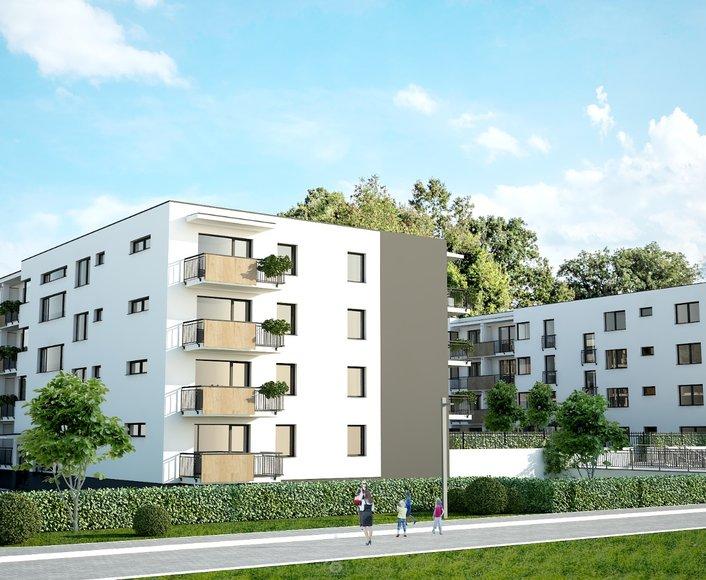 Prodej novostavby bytu 2+kk, se zahradou, balkonem a terasou, SLAVONÍNSKÉ ZAHRADY III