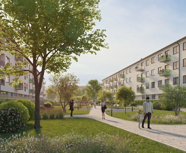 Prodej novostavby bytu 3+kk s terasou a předzahrádkou, REZIDENCE PARK Hrabůvka etapa B