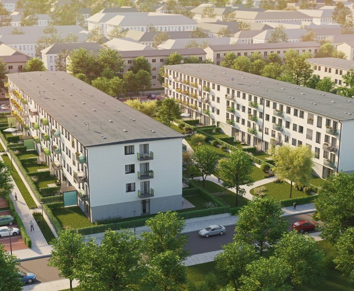 Prodej novostavby bytu 1+kk s lodžií, REZIDENCE PARK Hrabůvka etapa B