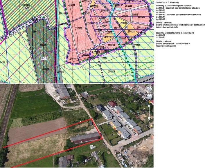 Prodej vyjímečného pozemku, který se nachází v městské části Nemilany v Olomouci