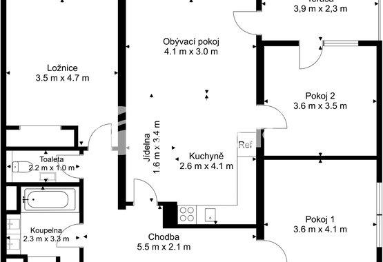 Prodej bytu 4+kk_Ostrava_Hermanice - Floor  1