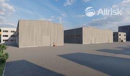 Prodej novostavby skladově-výrobní haly 2200 m2 s třípodlažní přístavbou 2x570 m2