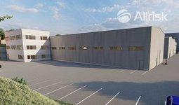Pronájem novostavby skladově-výrobní haly 1100 m2 s třípodlažní přístavbou 570 m2