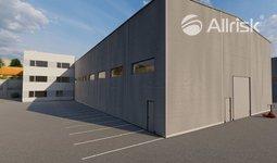 Pronájem novostavby skladově-výrobní haly 1200 m2 s třípodlažní přístavbou 570 m2