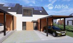 Řadový RD 5+kk, 150 m2 + 19 m2 terasa + přístřešek pro parkování