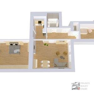 Prodej, Byt 3+1, 90m² - Brno - Veveří, ulice Údolní, byt č. 4