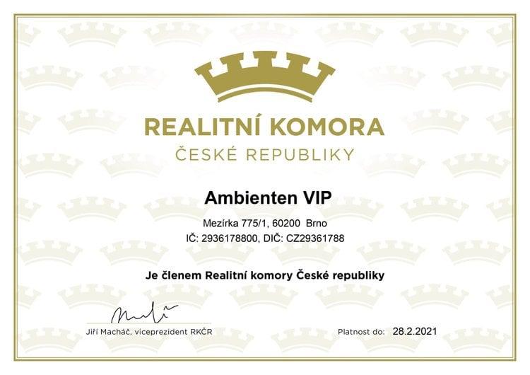 certifikát AMB