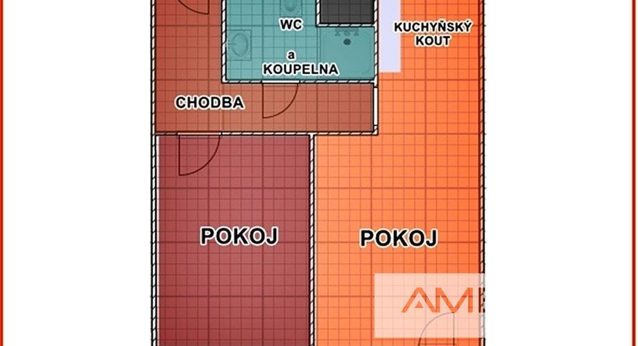 Půdorys Pekařská 2+kk