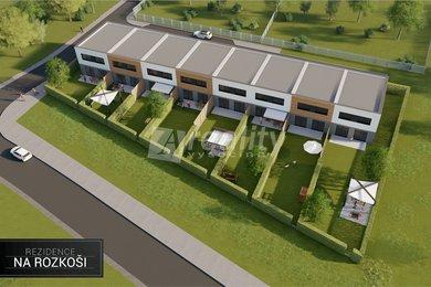 Prodej nových řadových rodinných domů, Havlíčkův Brod