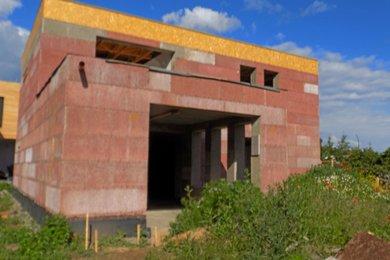 Prodej parcely 420 m2 s hrubou stavbou RD, Ořechov u Brna, Ev.č.: 00636