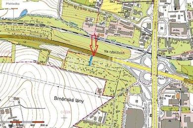 Prodej pozemku 1282 m2 s 2 chatami, Brno-Horní Heršpice, Ev.č.: 01027