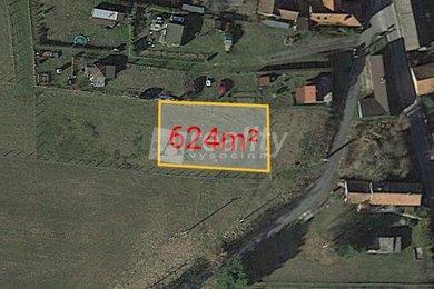 Prodej pozemku pro bydlení 624m² - Boršíkov, Čížkrajice, Ev.č.: 01186