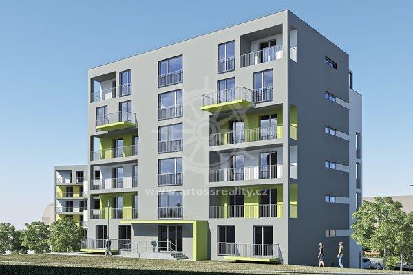 Prodej byt 1+kk, UP 33,2 m² + balkon 6,9 m2- Blansko, Nad Čertovkou