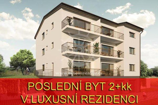 Prodej novostavby bytu 2+kk s balkonem, Rosice, UP 54 m2