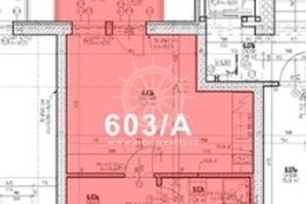 (603A ) Pronájem vybaveného bytu 1+kk s balkonem a parkovacím místem v centru Brna, ul. Bratislavská, UP 29 m2