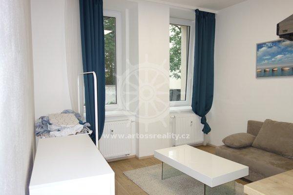 (105B)Pronájem novostavby vybaveného bytu 1+kk, 29m², Brno - Zábrdovice, ul. Bratislavská