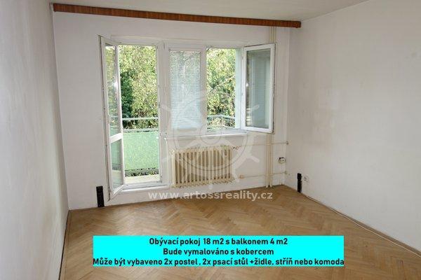 Pronájem Bytu 2+1, 54 m² s balkonem a sklepem, Brno - Černá Pole, náměstí SNP
