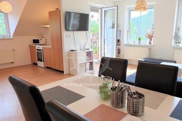 Prostorný a moderní cihlový byt 2+kk s balkonem, osobní vlastnictví, UP 75 m2, Řícmanice, Brno - venkov