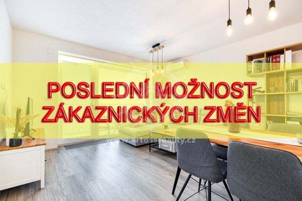 Prodej novostavby bytu 2+kk s balkonem a sklepem CP 67 m2