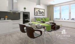 Prodej bytu 1+kk, 42,6 m², oddělená spací část, Rezidence Střelice
