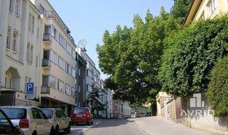 Pronájem bytu 1+1, Brno - střed, terasa s krásným výhledem na Špilberk, cihlový dům, ulice Pellicova