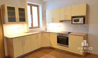 Pronájem krásného bytu 1+1, Brno Veveří, částečně zařízeno, ulice Jiráskova