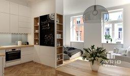Prostorný byt 1+kk, 43 m² - Brno - Veveří