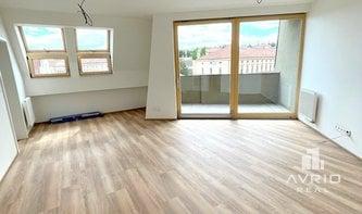 Pronájem nového bytu 2+kk, Brno Veveří, novostavba, kompletně zařízený, ulice Údolní