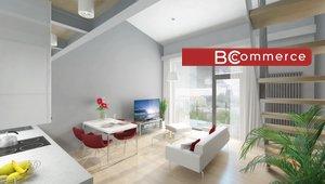 Prodej loftového bytu 2+kk, 67m² s terasou