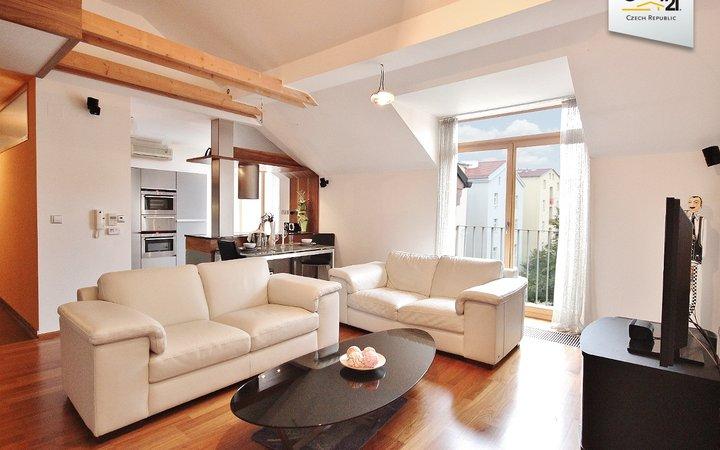 nadstandardní mezonetový byt 4+kk, 150m2  Brno Veveří
